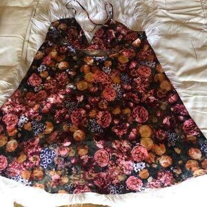 Beautiful silk floral dress